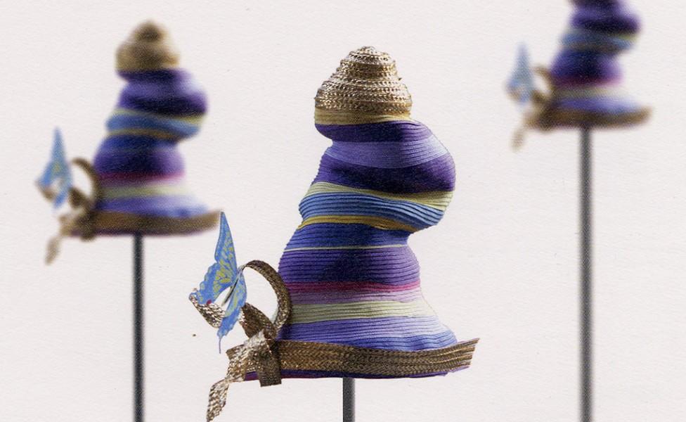 Multi stripe braid hat