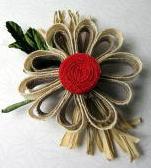 帽子の夏素材で作る簡単な花