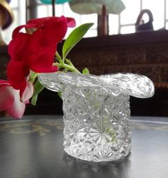シルクハットガラス花瓶