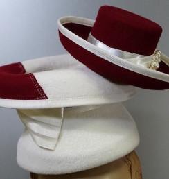 Hat on hat シリーズ 赤×白