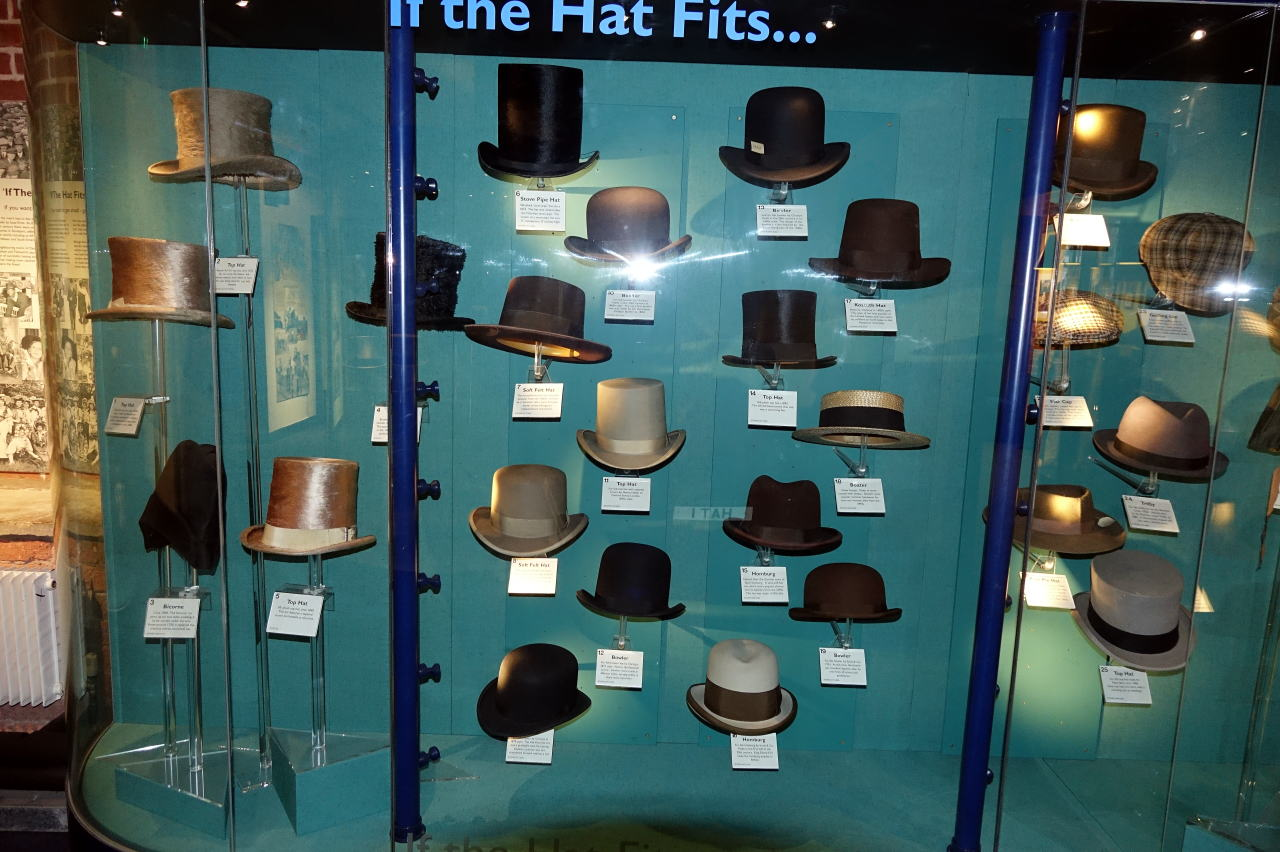 Stock Port Men's Hatストックポート博物館の帽子展示 メンズハット