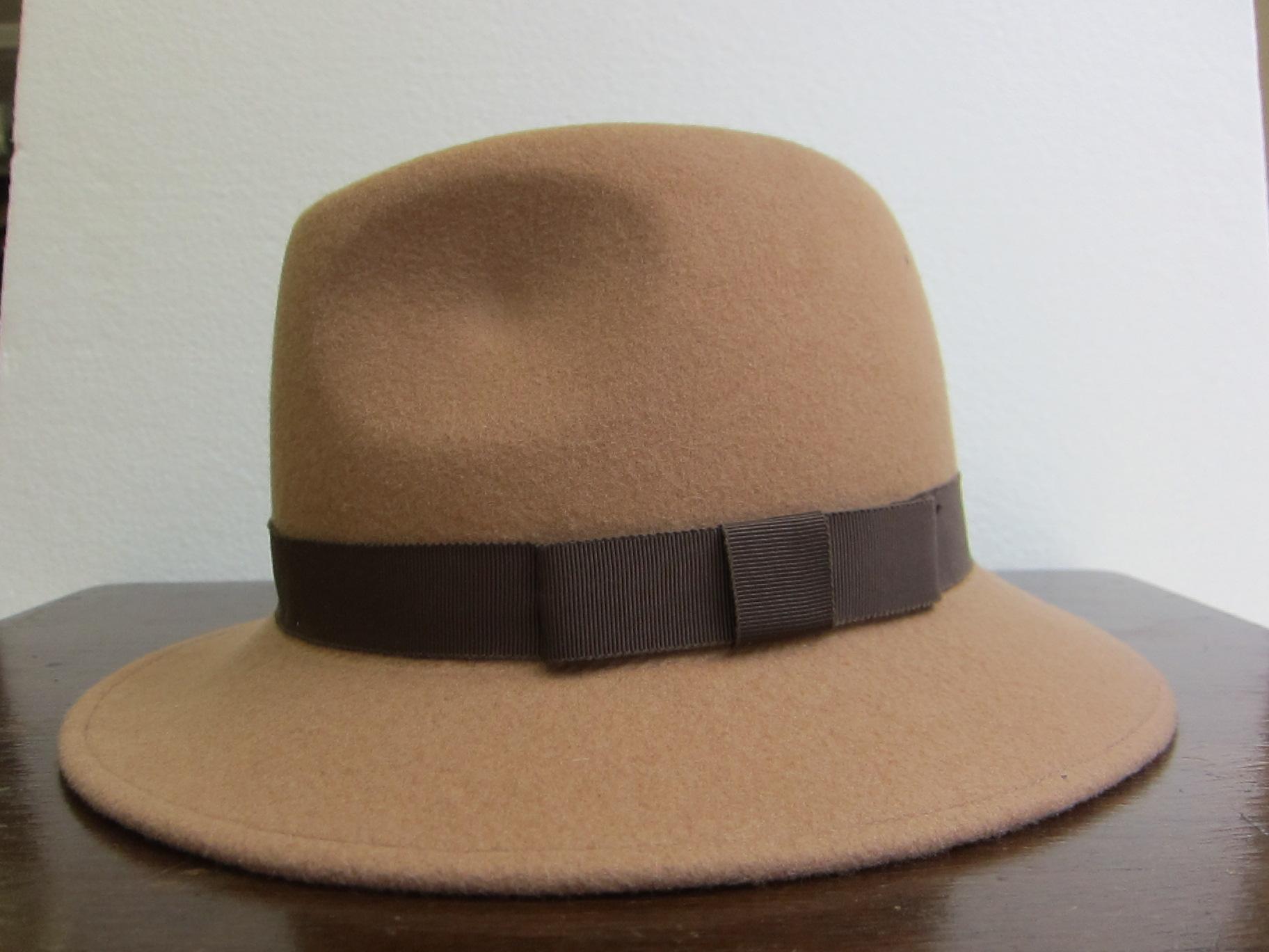 帽子 大き目中折れ型