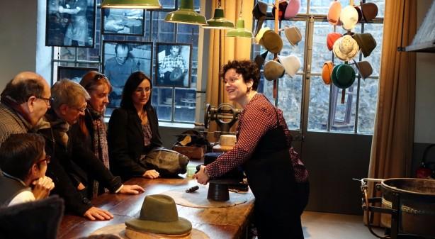 The Hat demonstration at Lyon Musee'  フェルト帽の作り方デモストレーション