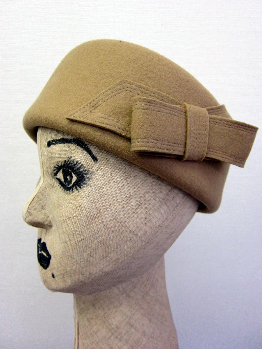 トーク風ベレー帽 サイド