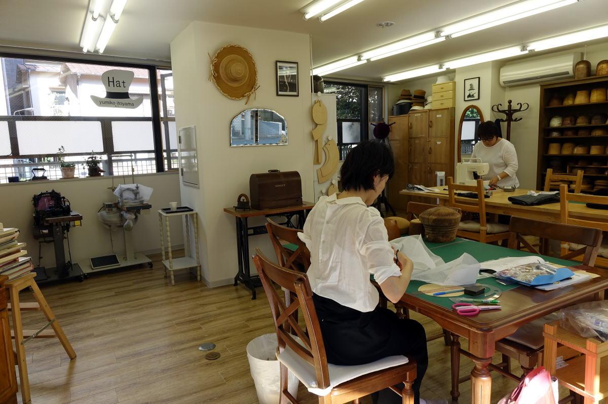 ユミコイトヤマ帽子教室 風景