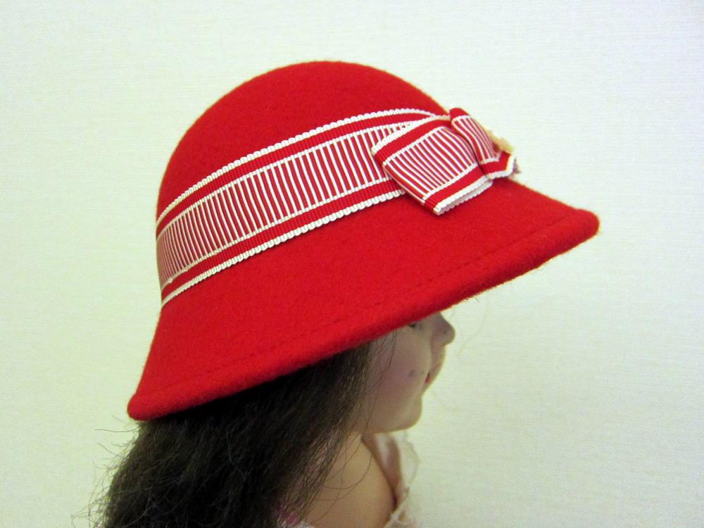 フェルト帽子 サイド