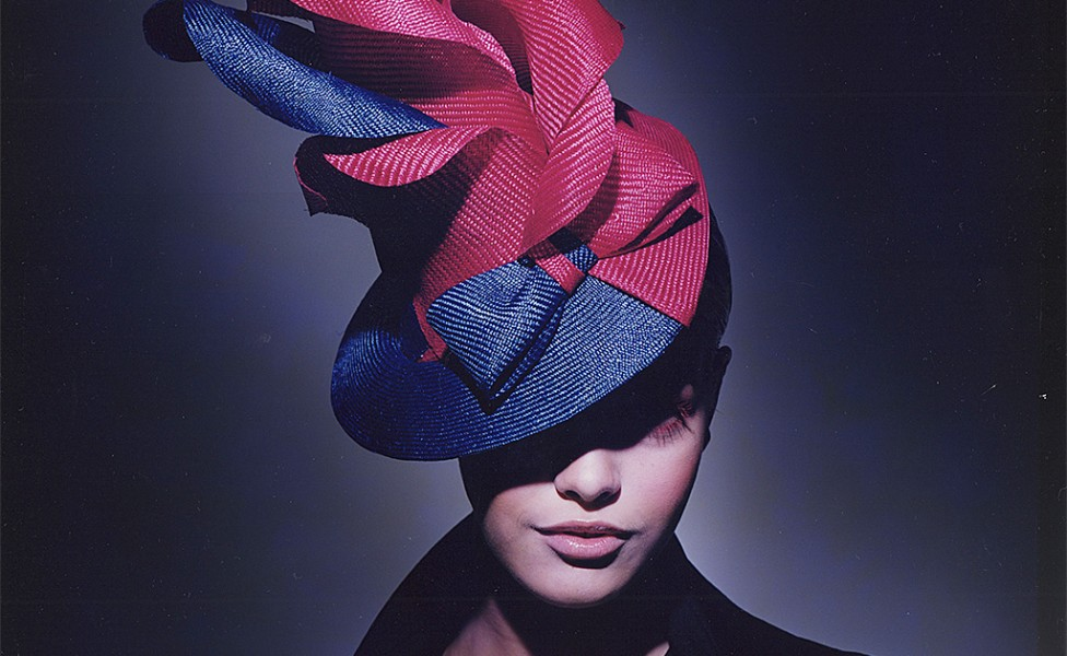 Two tone saisol flower Hat