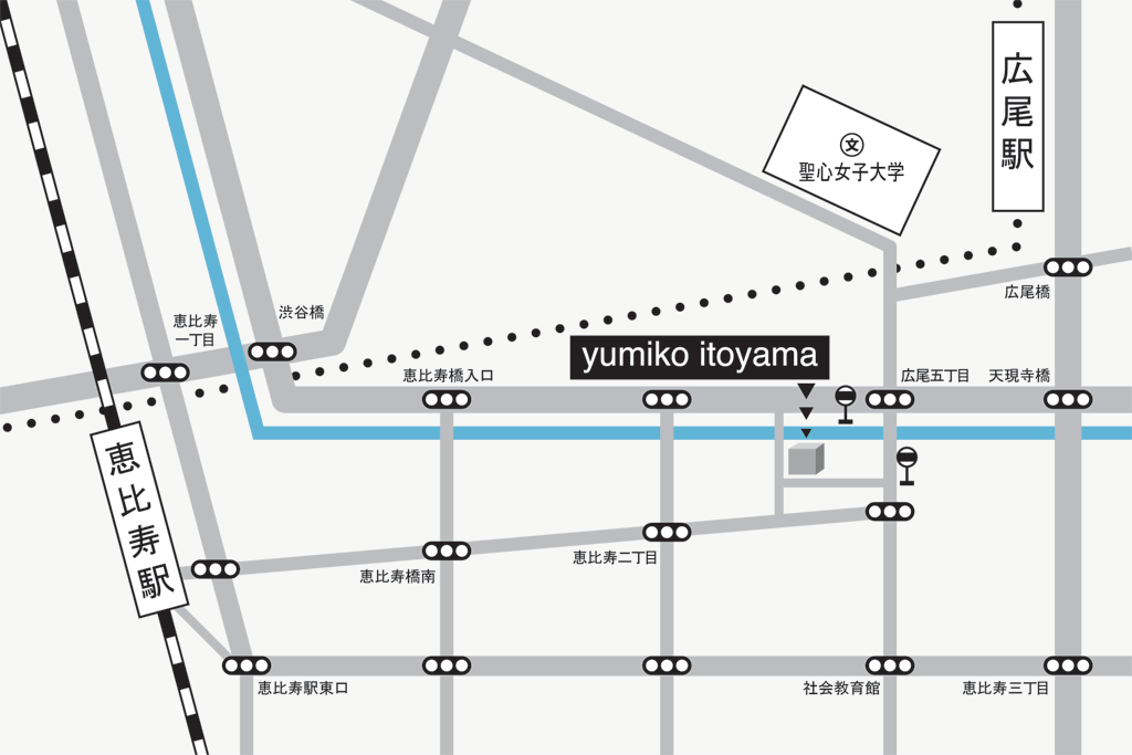 ユミコ イトヤマ帽子教室マップ